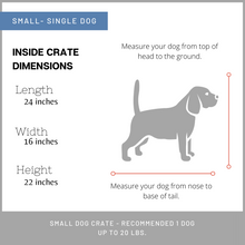 Load image into Gallery viewer, Small custom dog crate furniture