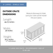 Load image into Gallery viewer, Single Dog Crate - XL