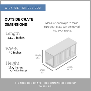Single Dog Crate - XL
