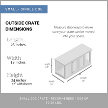 Load image into Gallery viewer, Small dog kennel furniture in austin