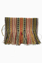 Load image into Gallery viewer, Mulitcolored Patterned Chaguar Clutch Bag with Fringe ends.