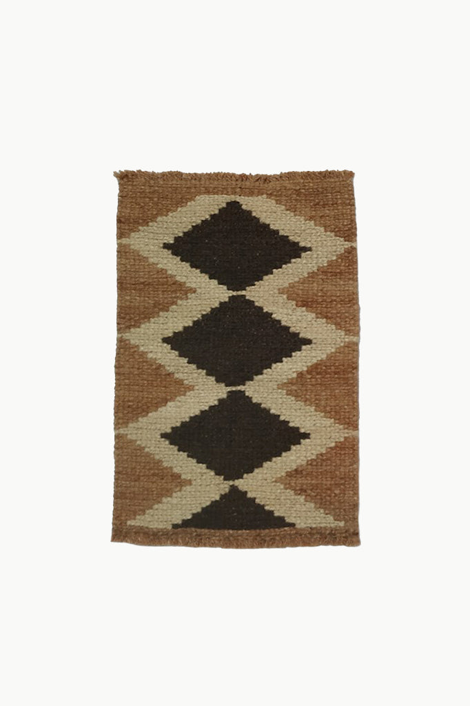 Natural Brown, Cream, and Dark Brown Special Wool Tapestry.