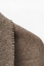Load image into Gallery viewer, Natural Brown llama and sheep wool XL shawl