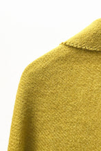 Load image into Gallery viewer, Shiny Mustard llama and sheep wool XL shawl