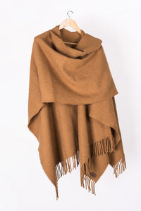 Caramel llama and sheep wool poncho