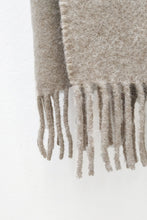 Load image into Gallery viewer, Beige llama and sheep wool scarf