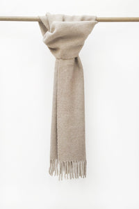 Beige llama and sheep wool scarf