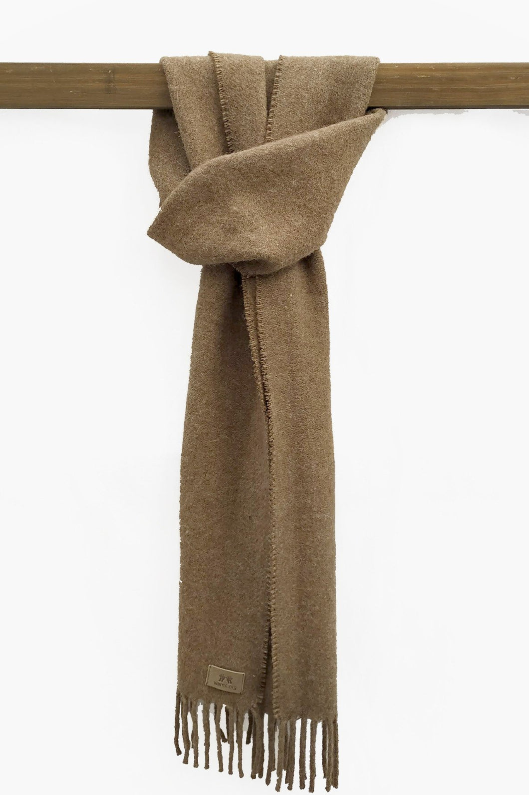 Natural Brown llama and sheep wool scarf