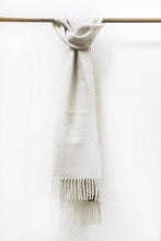 Load image into Gallery viewer, Natural White Llama and Sheep Wool Scarf.