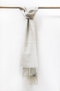 Natural White Llama and Sheep Wool Scarf.