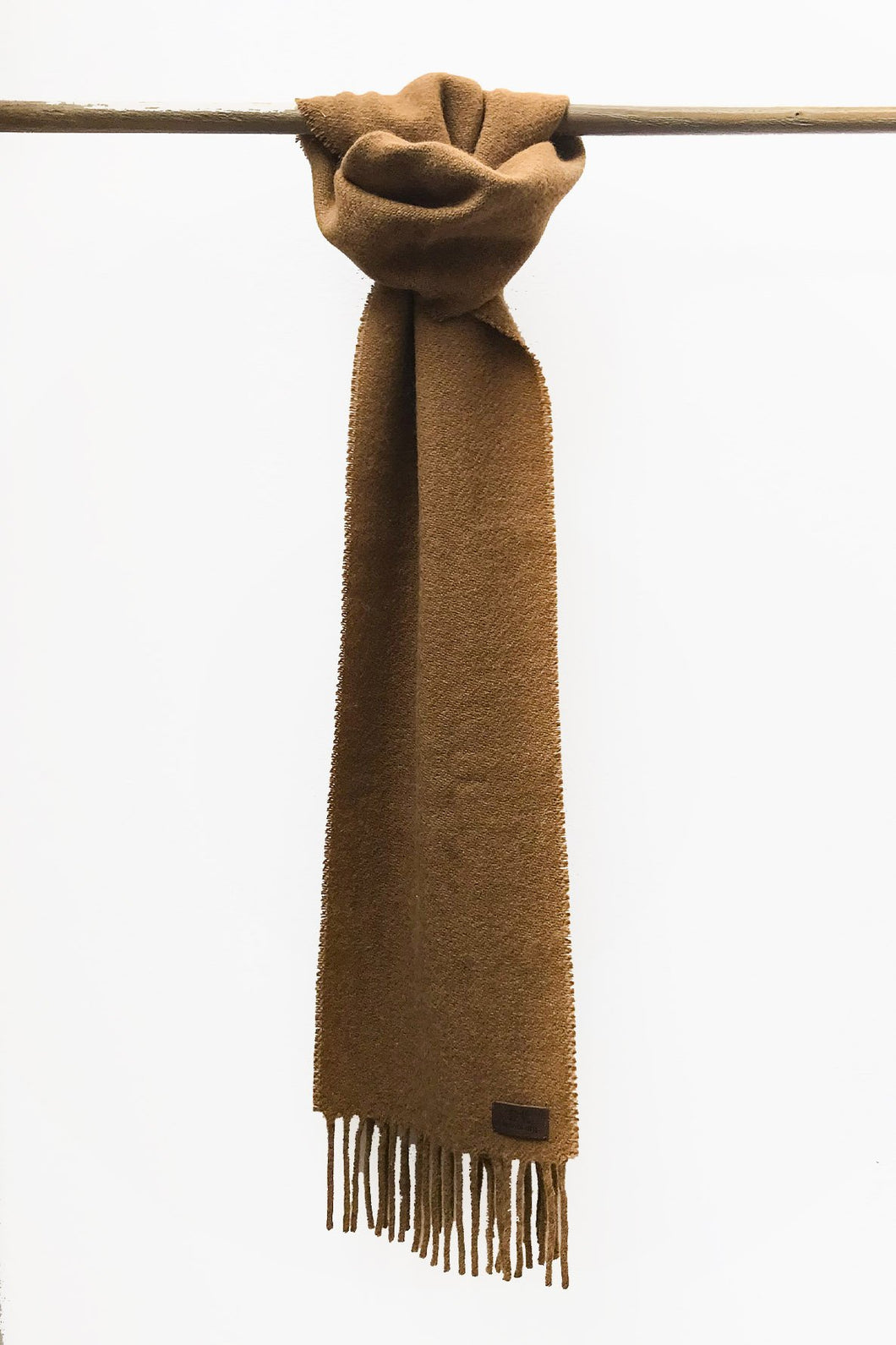 Caramel Llama and Sheep Wool Scarf.
