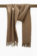 Load image into Gallery viewer, Natural Brown llama and sheep wool shawl