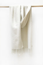 Load image into Gallery viewer, Natural white llama and sheep wool shawl
