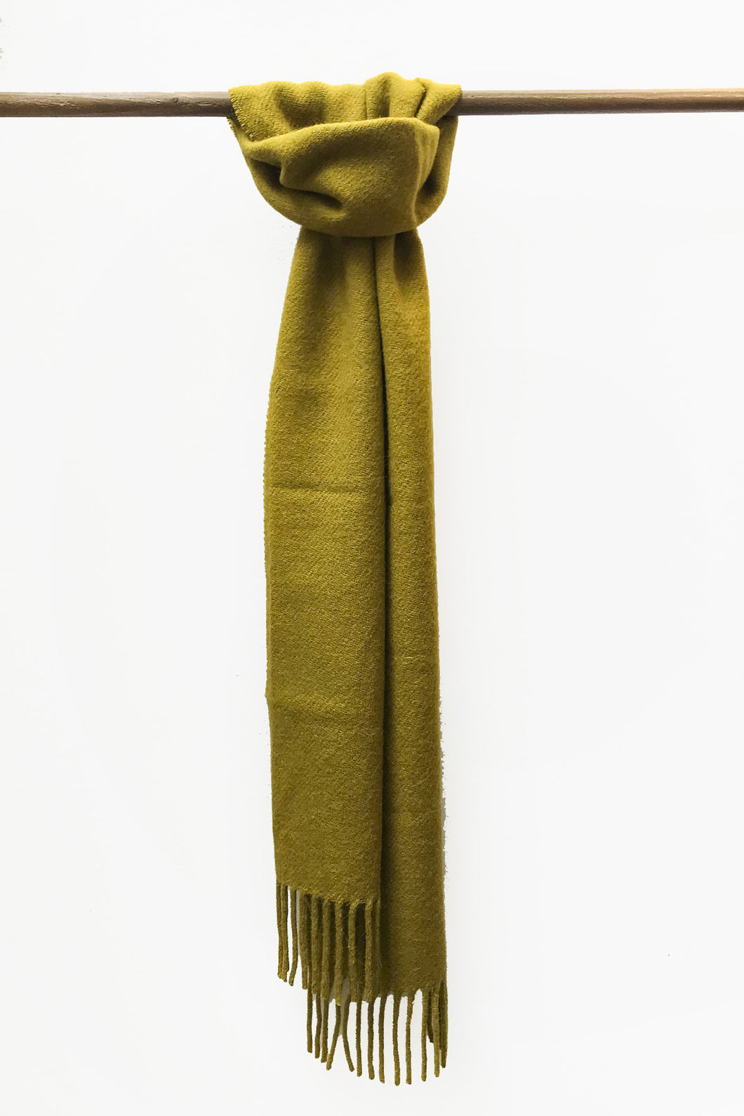 Shiny Mustard llama and sheep wool scarf