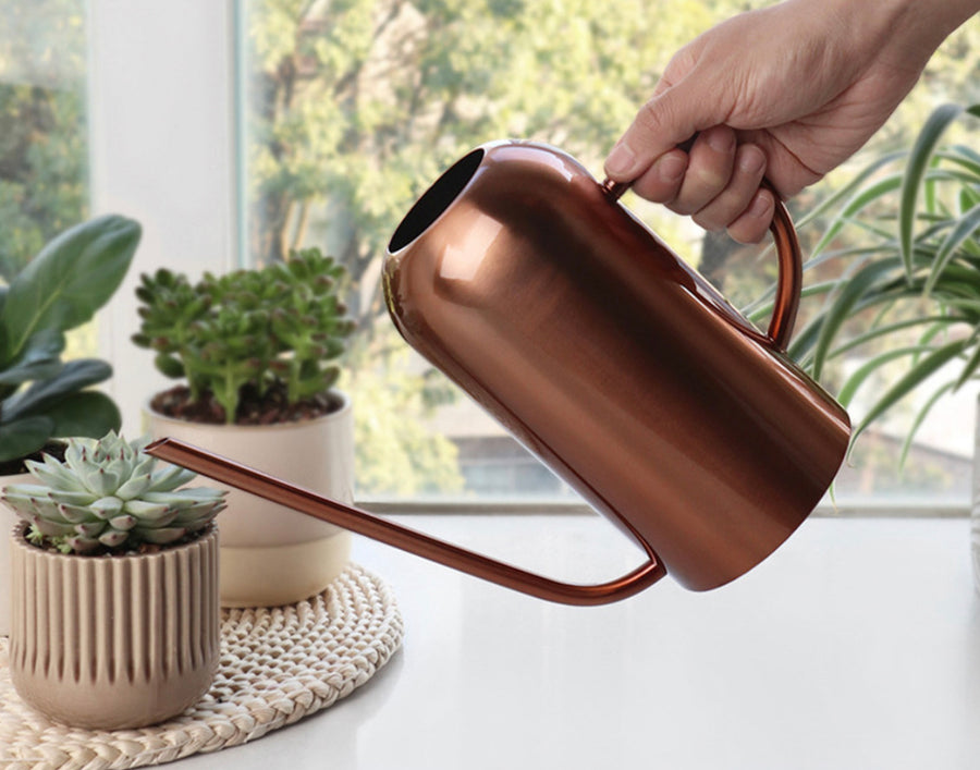 Tall Copper Watering Can