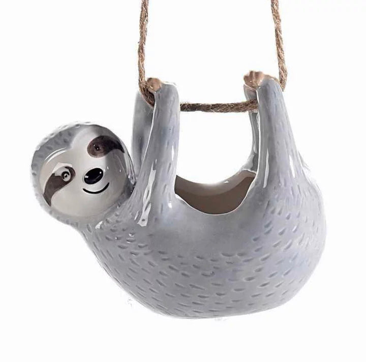 hanging sloth planter for succulent