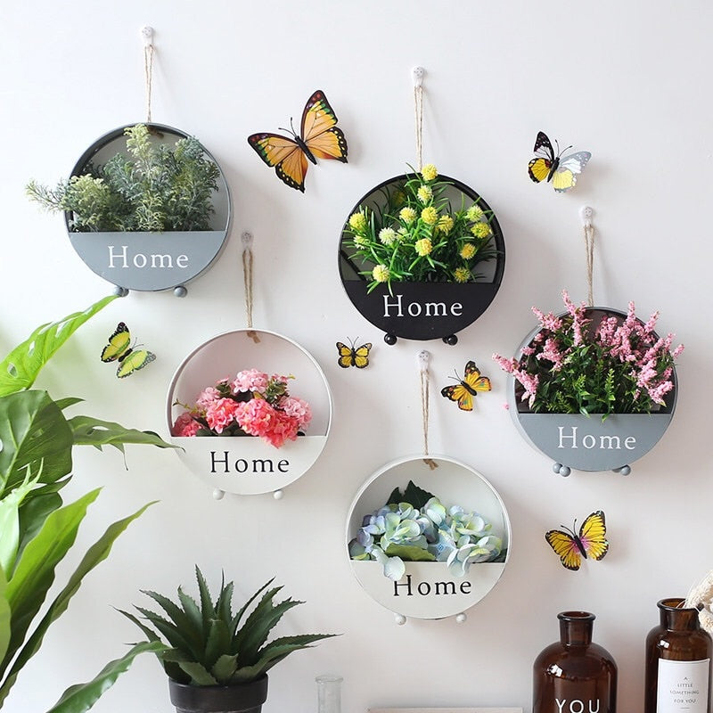 """Home"" Wall Planters"