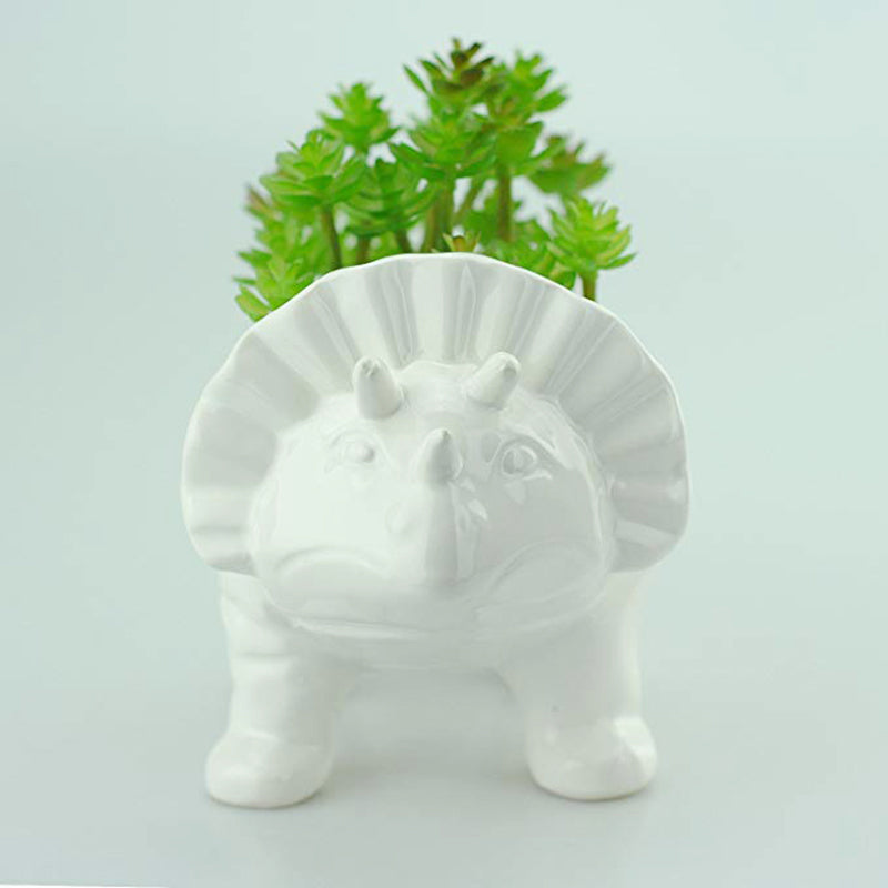 porceline dinosaur planter for succulents