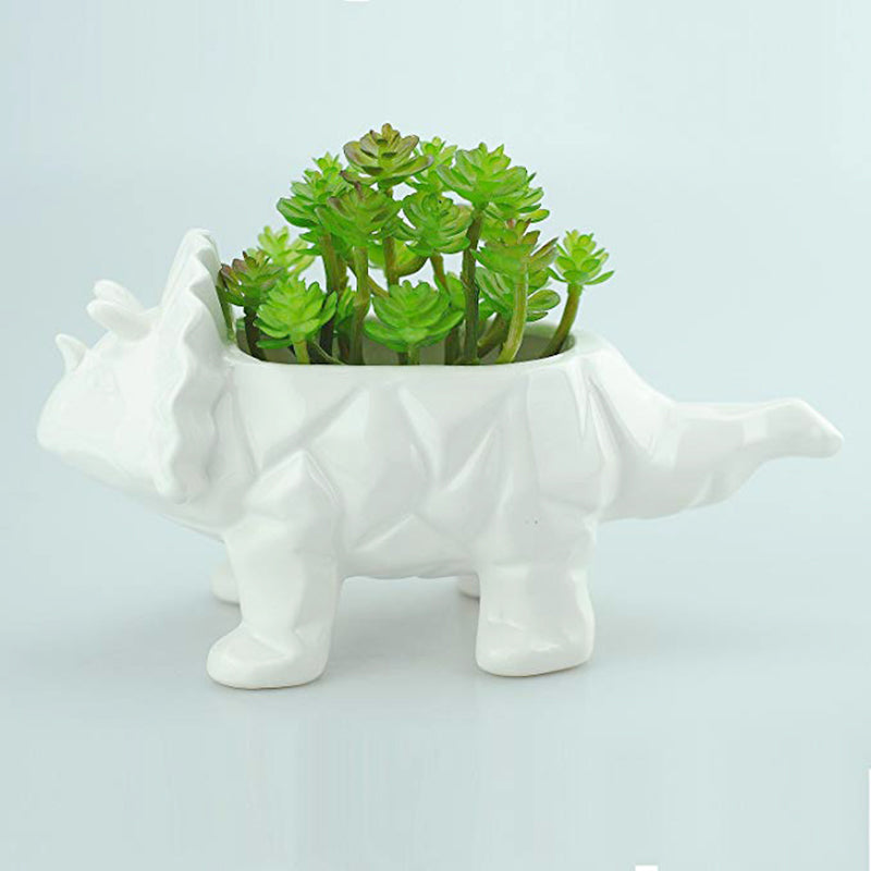 porcelin pots dinosaur planter for succulent
