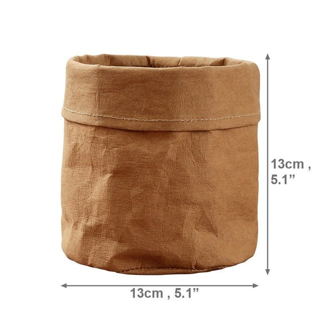 Waterproof Kraft Paper Plant Pot