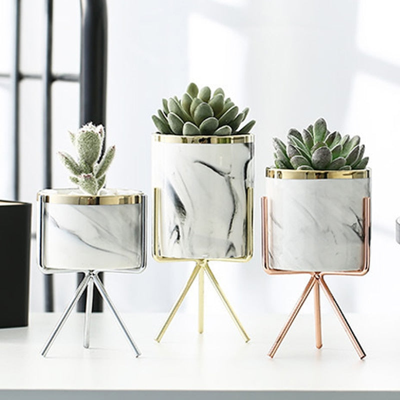 Ceramic Planter With Stand