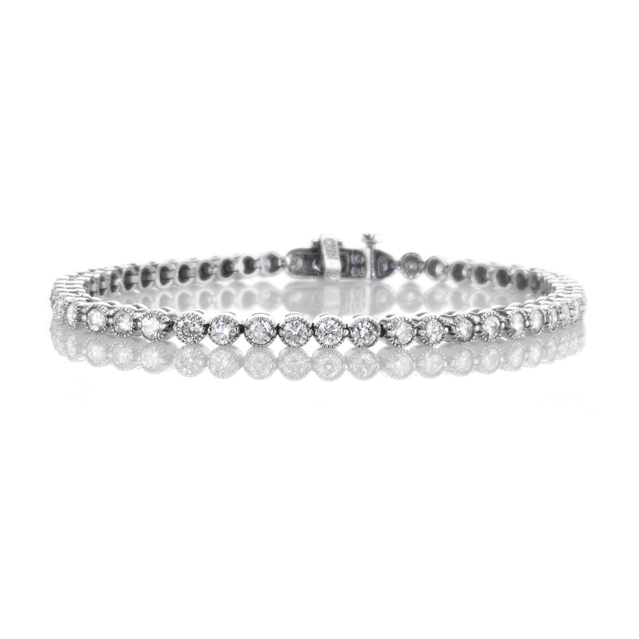 3.4mm Diamond Tennis Bracelet - B111