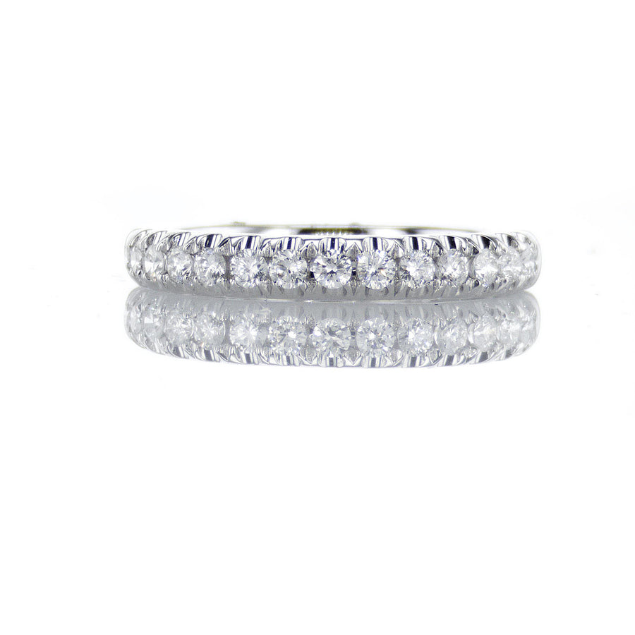 Classic Thin Diamond Band in 14K White Gold - BN0389