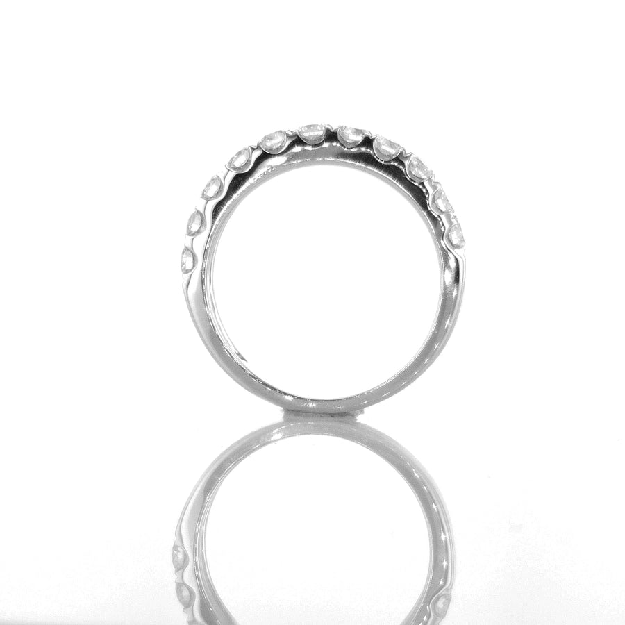 Chunky Classic Diamond Band in 18K White Gold - BN0399