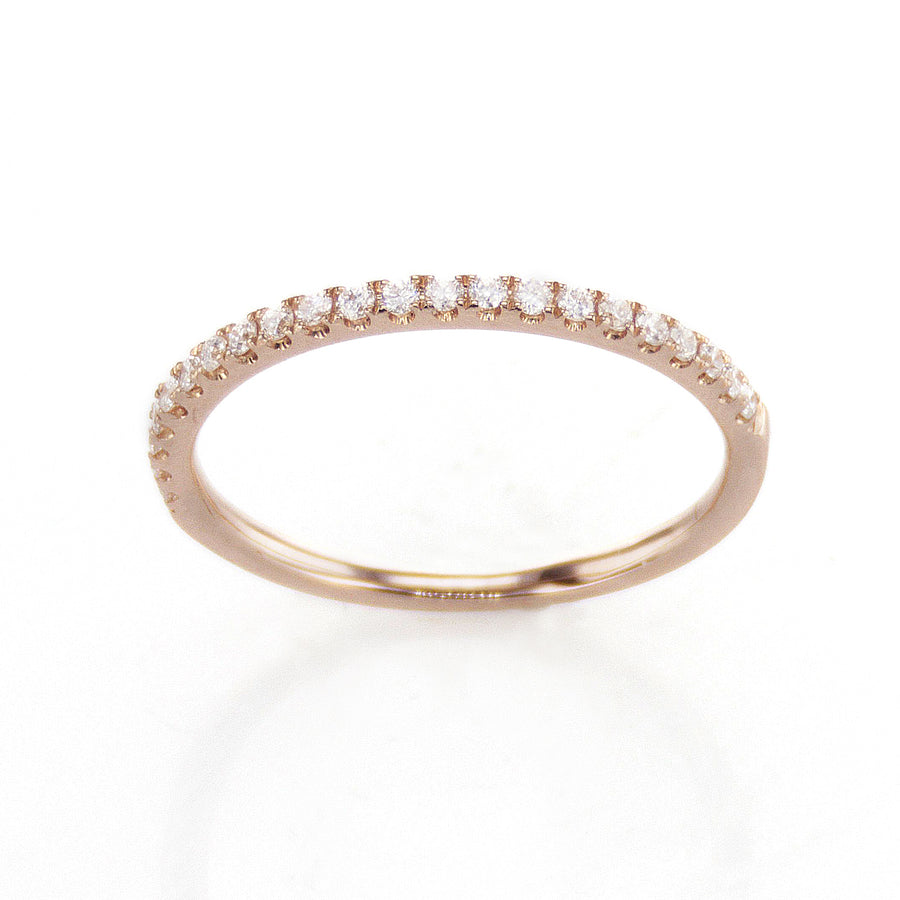 Classic Thin Diamond Band in 18K Rose Gold - BN0515
