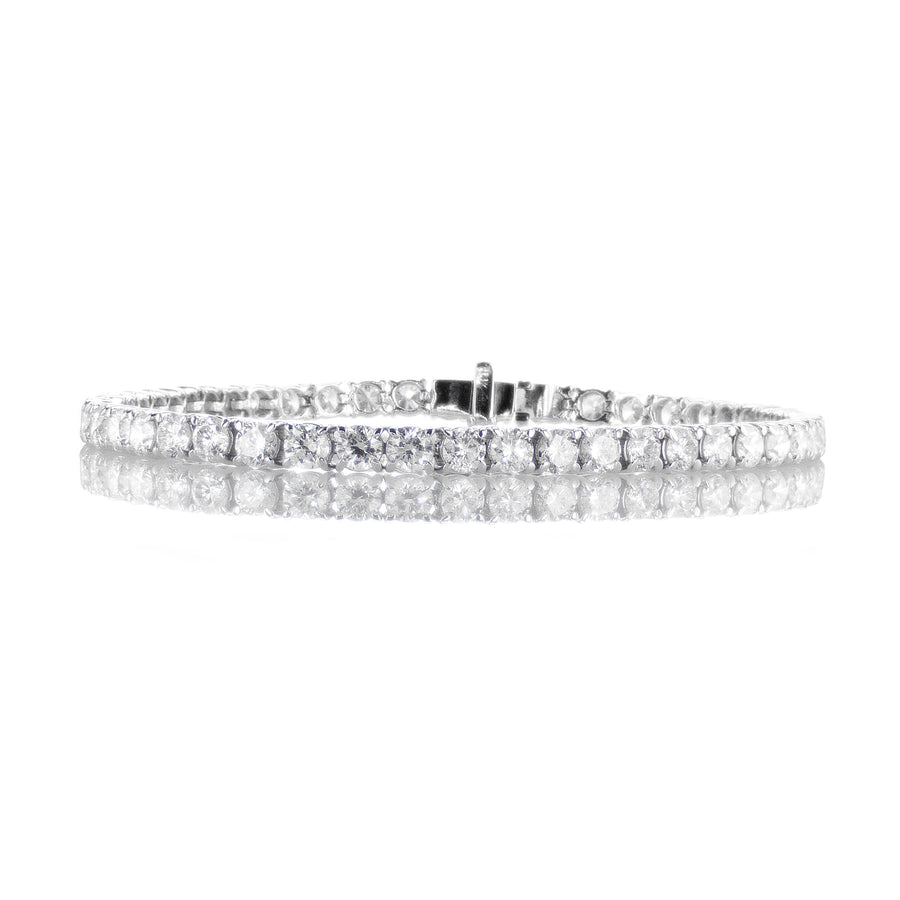 3.5mm Diamond Tennis Bracelet in 14K White Gold - BR0037