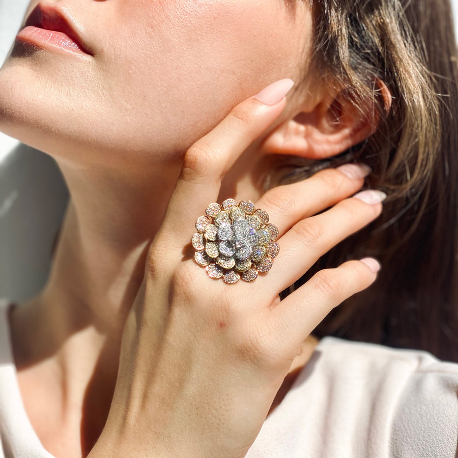 Sunburst Flower Ring