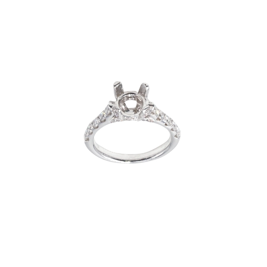Round Encrusted Crown and Bridge Semi-Mount - SM0392