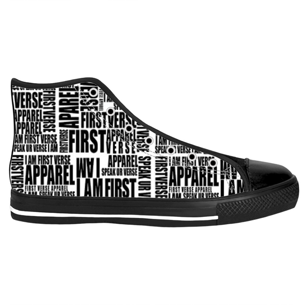 high top letter sneaker - firstverseapparel