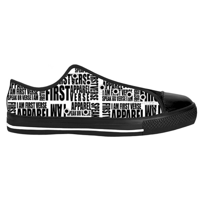 low top letter sneaker - firstverseapparel
