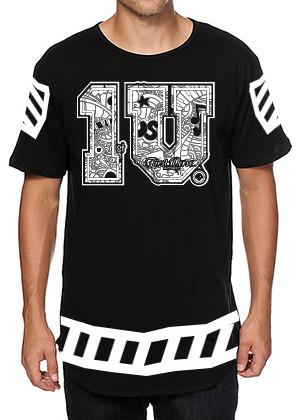 `1 V first verse black/white apparel jersey  T-Shirt - firstverseapparel