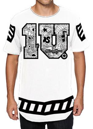 `1 V first verse white/black apparel jersey  T-Shirt - firstverseapparel