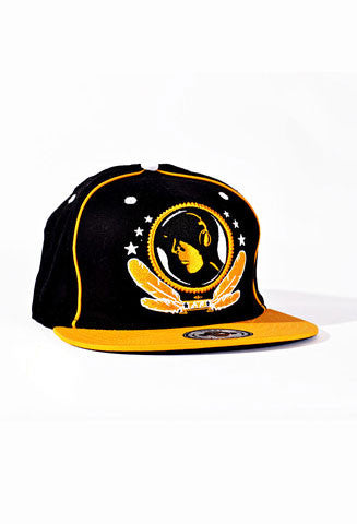 Black & Yellow FV Hat fitted - firstverseapparel