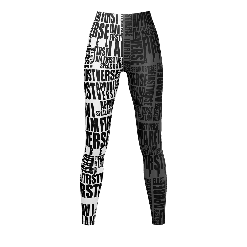 first verse black and white legging