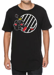 cartoon kiing black T-Shirt