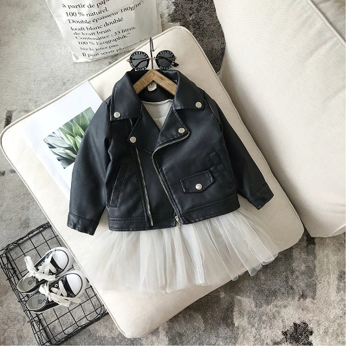 Baby Zone Black Leather Jacket ™