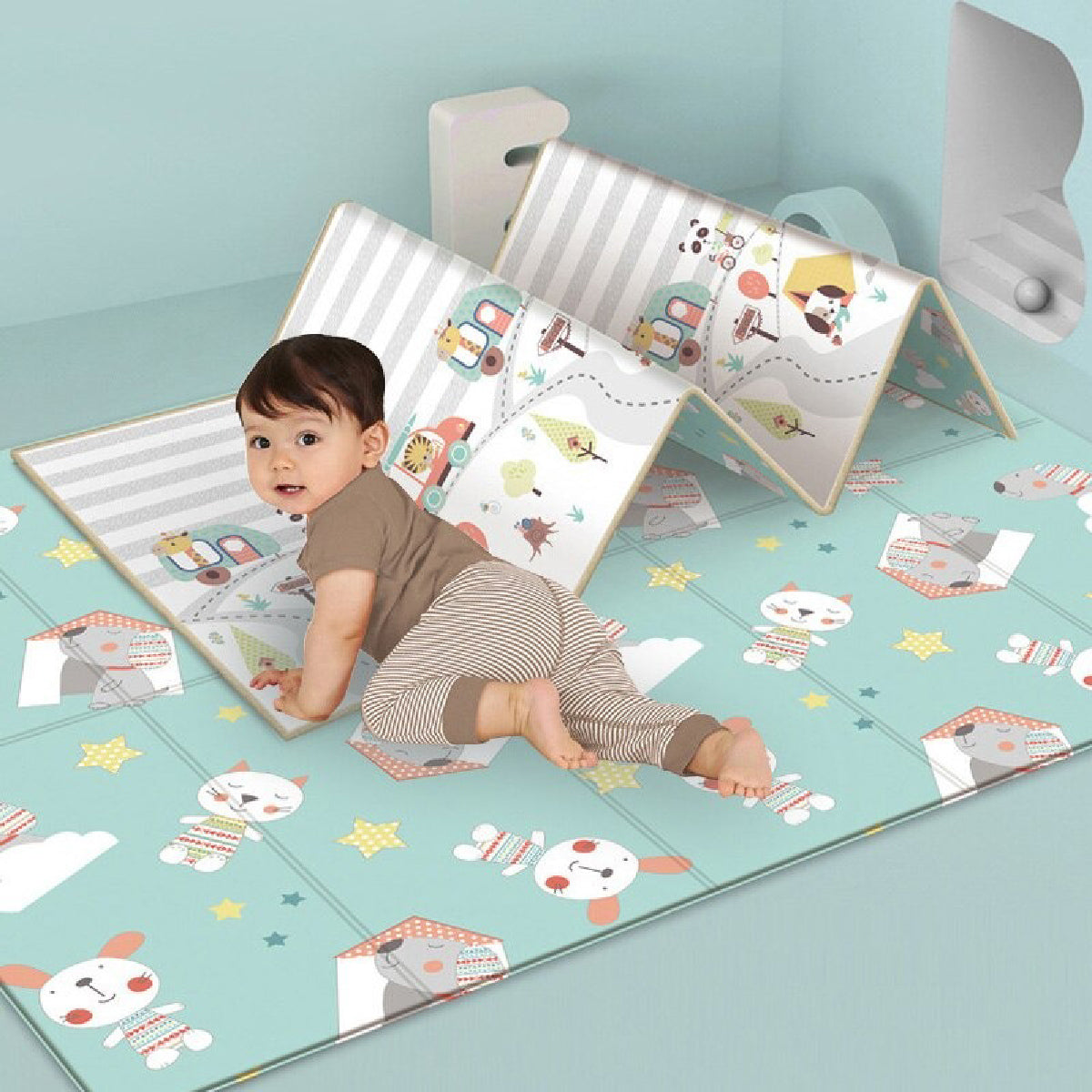 Baby Zone Foldable Cartoon Play Mat ™