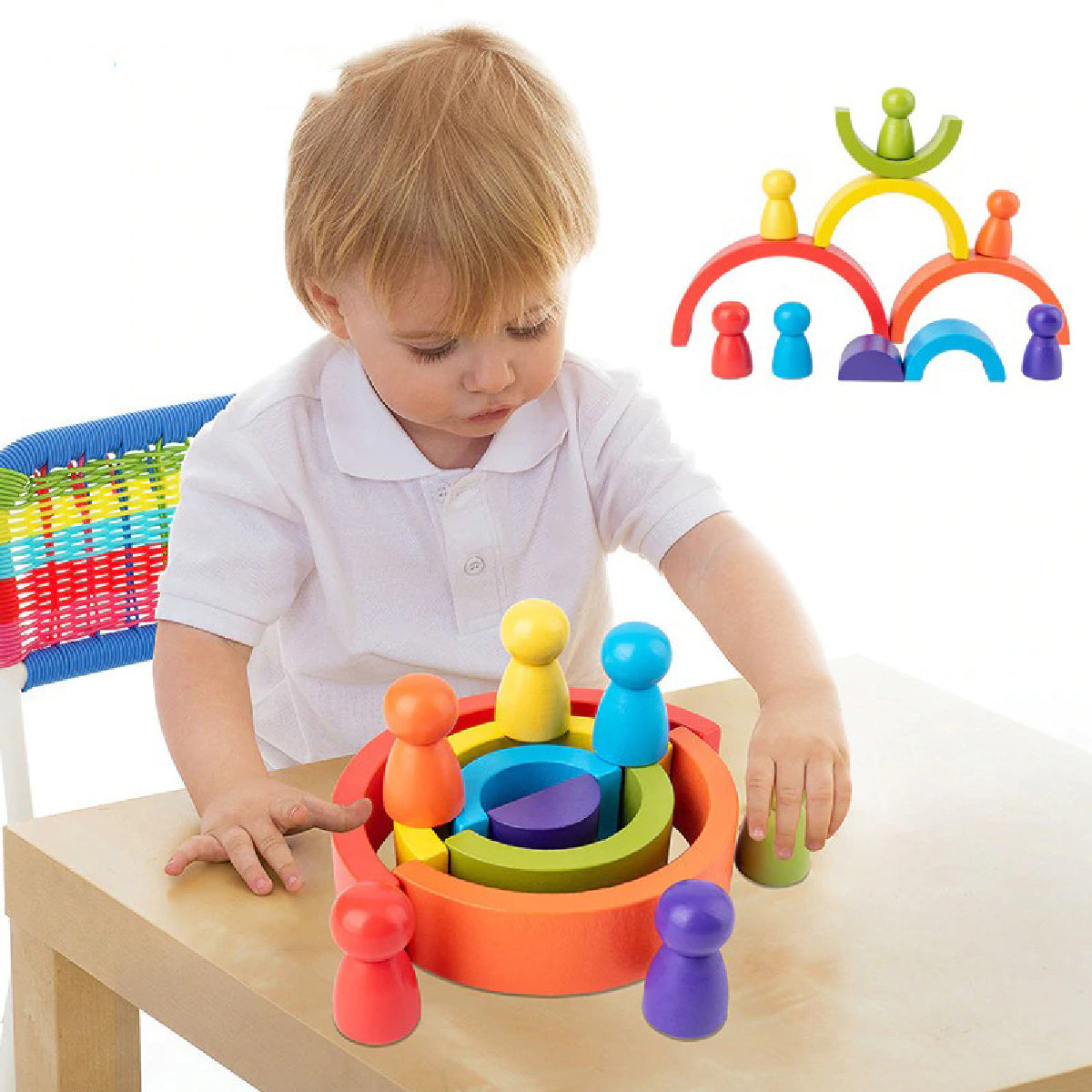 Baby Zone Rainbow Blocks ™