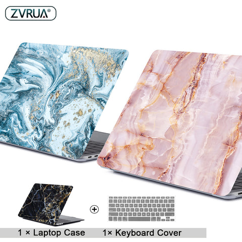 Marble Laptop Case For APPle MacBook + Keypad Cover