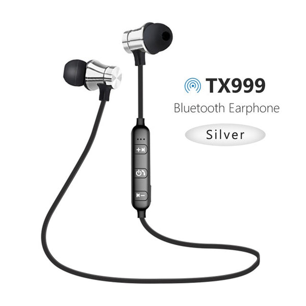 New Wireless Bluetooth Earphones Sport Magnetic Stereo