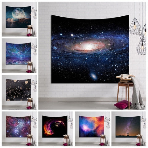 Galaxy Hanging Wall Tapestry Hippie Retro Home Decor