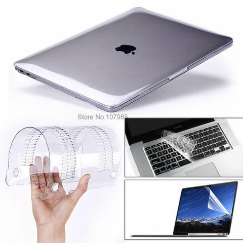 "3 in 1 For Mac Book Air 11"" Pro 13/15"" Retina 12 Cover Case Protector"