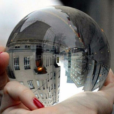 Clear Glass Crystal Ball