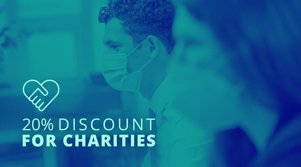 20% discount for registered charities