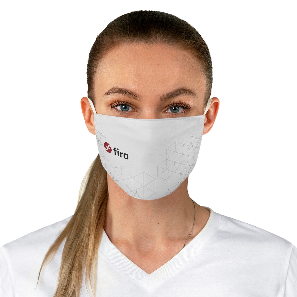 Firo White Fabric Face Mask