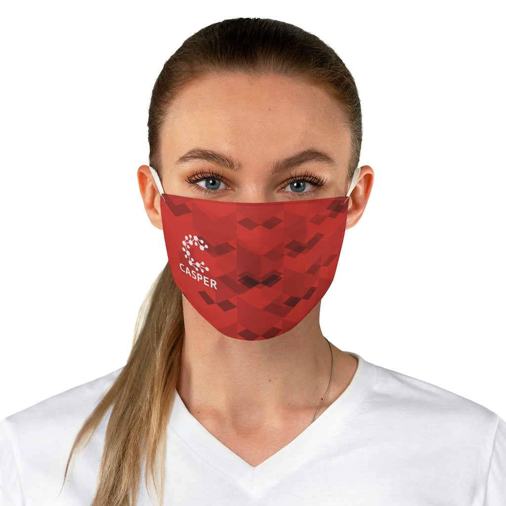 Casper Lightest Red Fabric Face Mask